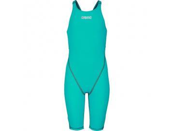 arena Mädchen Wettkampfanzug Powerskin ST 2.0 aquamarine offener Rücken