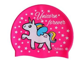Einhorn Badekappe Silikon Unicorn forever pink