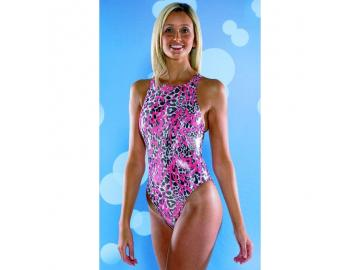 Maru Damen Badeanzug Animal Sparkle Tek Back glänzend