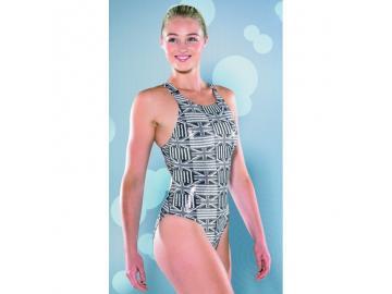 Maru Damen Badeanzug Union Jack Tek Back glänzend