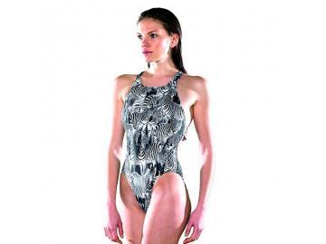 Maru Damen Badeanzug Zebra Sparkle Tek Back glänzend