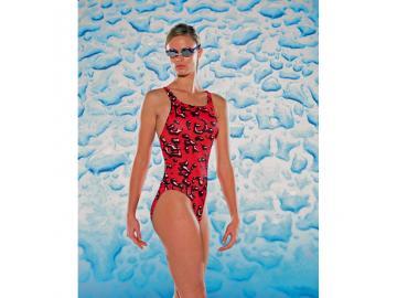 Maru Damen Badeanzug Mercury Pacer Vault Back rot