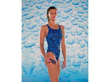 Maru Damen Badeanzug Mercury Pacer Vault Back blau