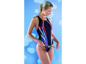 Maru Damen Badeanzug Mission Pacer Vault Back Black-Blue