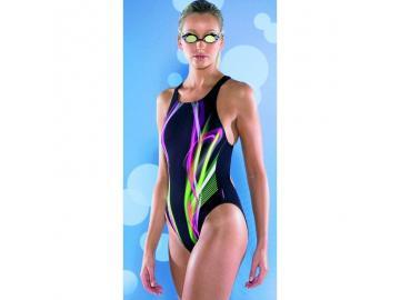 Maru Damen Badeanzug Mission Pacer Vault Back Black-Pink