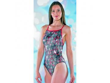 Maru Damen Badeanzug Shanghai Sparkle Splish Back glänzend