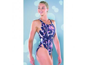 Maru Damen Badeanzug Surge Pacer Vault Back navy/pink