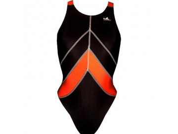 YINGFA Wettkampfanzug Speedsuit schwarz/orange