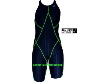 Yingfa Kneeskin Women schwarz/grün Wettkampf Schwimmanzug