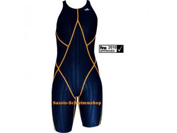 Yingfa Kneeskin Women schwarz/orange Wettkampf Schwimmanzug